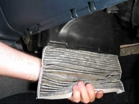 change cabin air filter chrysler voyager youtube