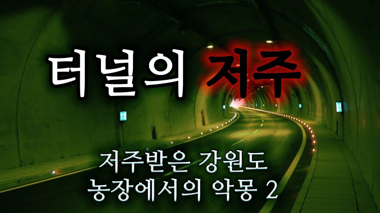 [80 공포라디오] 터널의 저주ㅣ저주받은 강원도 농장에서의 악몽 2