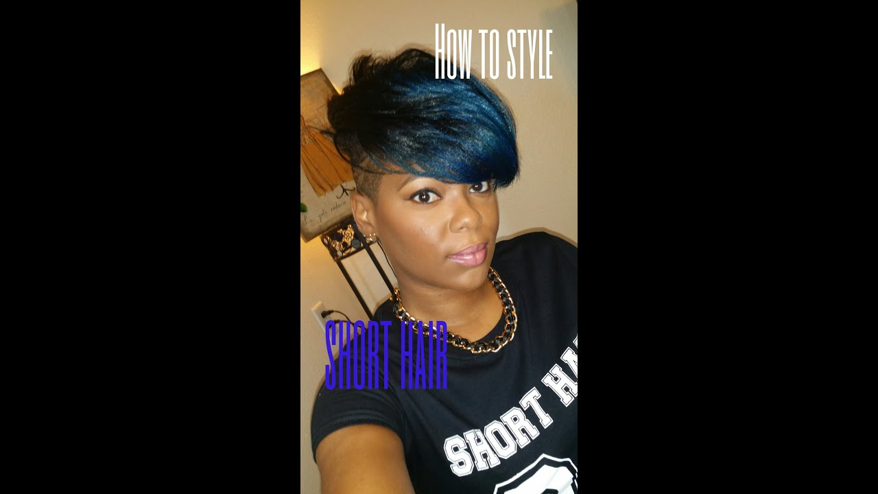 style short hair with shaved