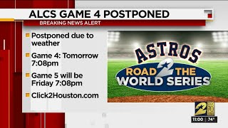 Postponed! ALCS Game 4 between Astros, Yankees delayed due to weather