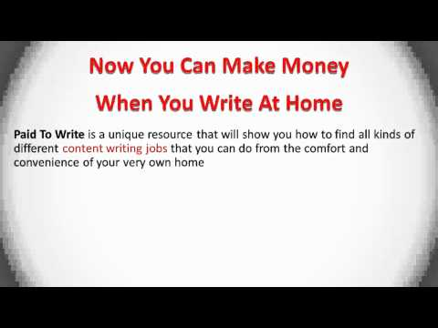 Write At Home - Get Paid Doing Content Writing Jobs Online