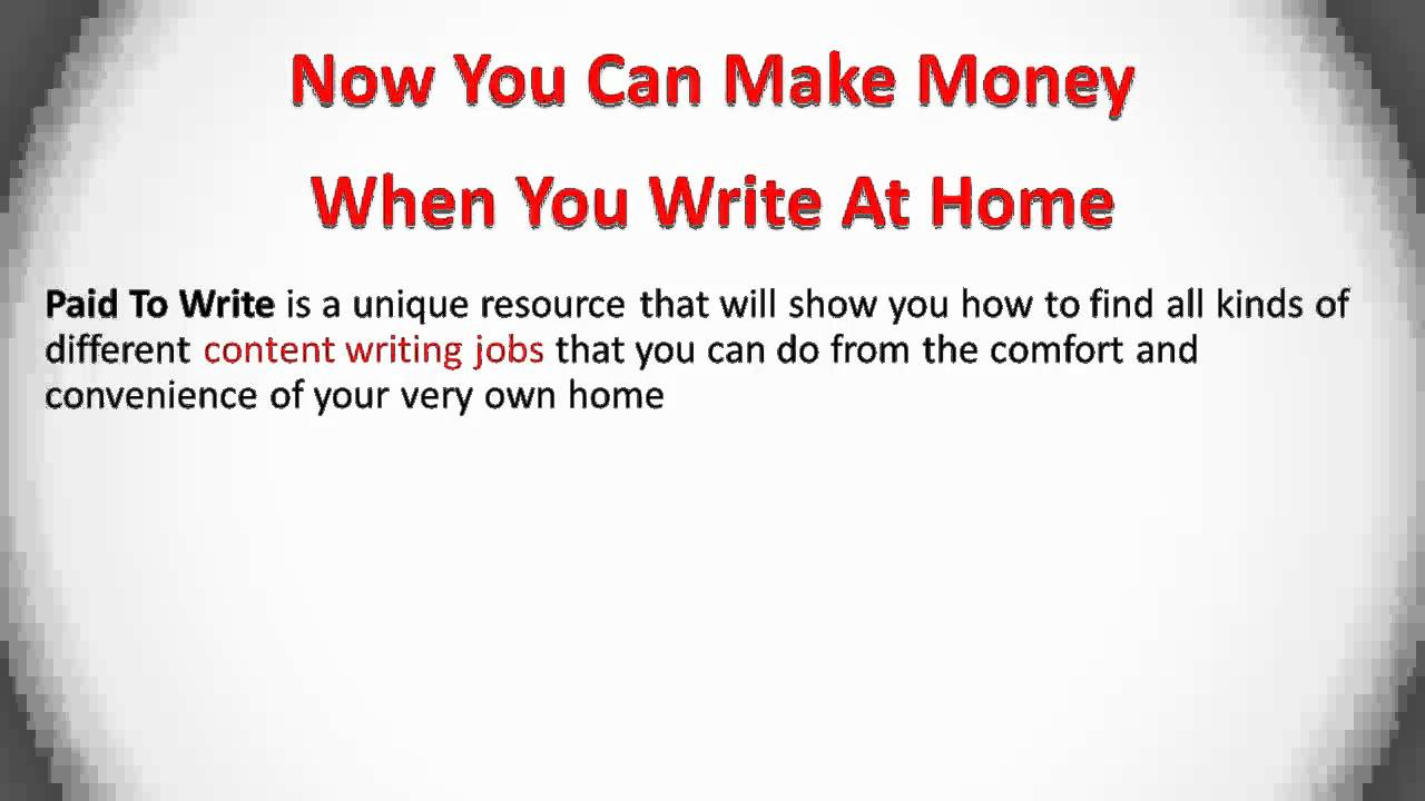 write at home get paid doing content writing jobs online
