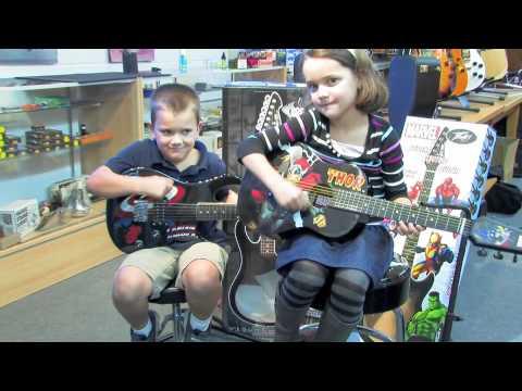Marvel Super Hero Guitars at Jireh Music and More