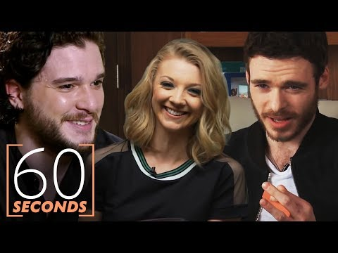 Game of Thrones 60 Second Challenge Ft. Kit Harington, Natalie Dormer & More