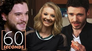 Game of Thrones 60 Second Challenge Ft. Richard Madden, Kit Harington, Natalie Dormer & More
