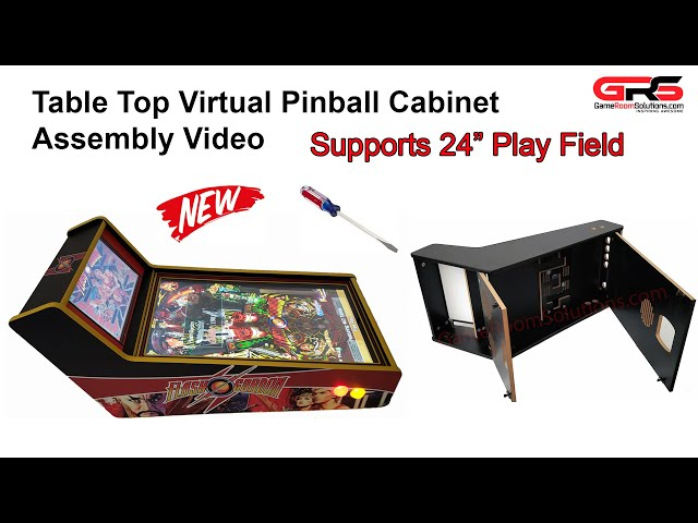 Table Top Virtual Pinball Cabinet Assembly Video