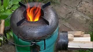 Печь-ракета из газового баллона