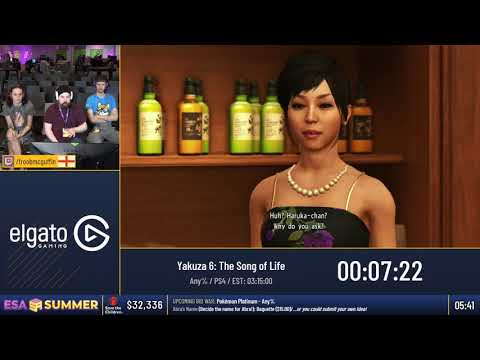 #ESASummer18 Speedruns  Yakuza 6: The Song of Life Any%  FroobMcGuffin