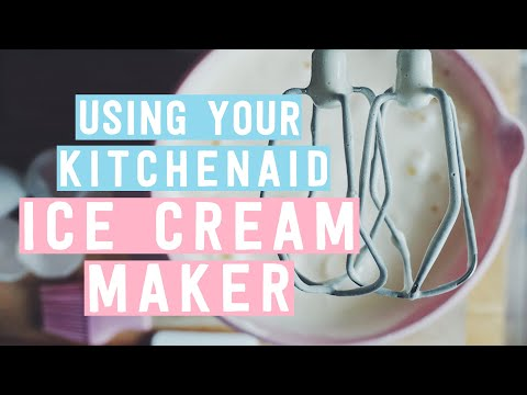 Kitchen Aid Attachments Unfinished Base Cabinets Using Your Kitchenaid Ice Cream Maker - Youtube
