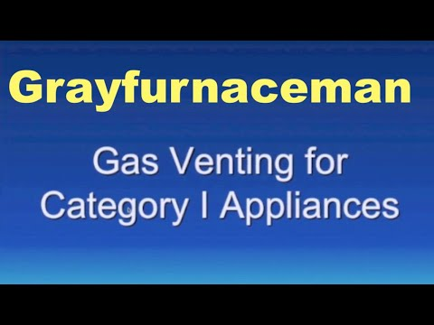 Venting for cat I gas appliances
