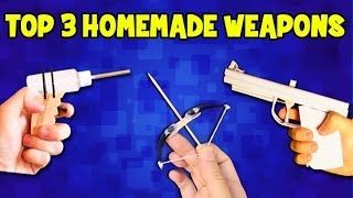 Discover top 3 Homemade weapons. How to make a Homemade Weapon out of household items.