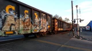 HD train crossing in Dayton Ohio