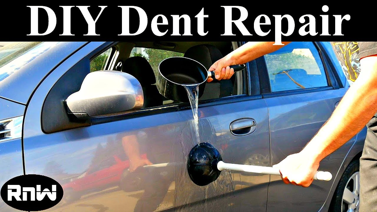 Using Boiling Water And A Plunger To Remove Car Dents