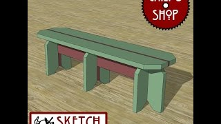 Chief's Shop Sketch Of The Day: Platform Bench
