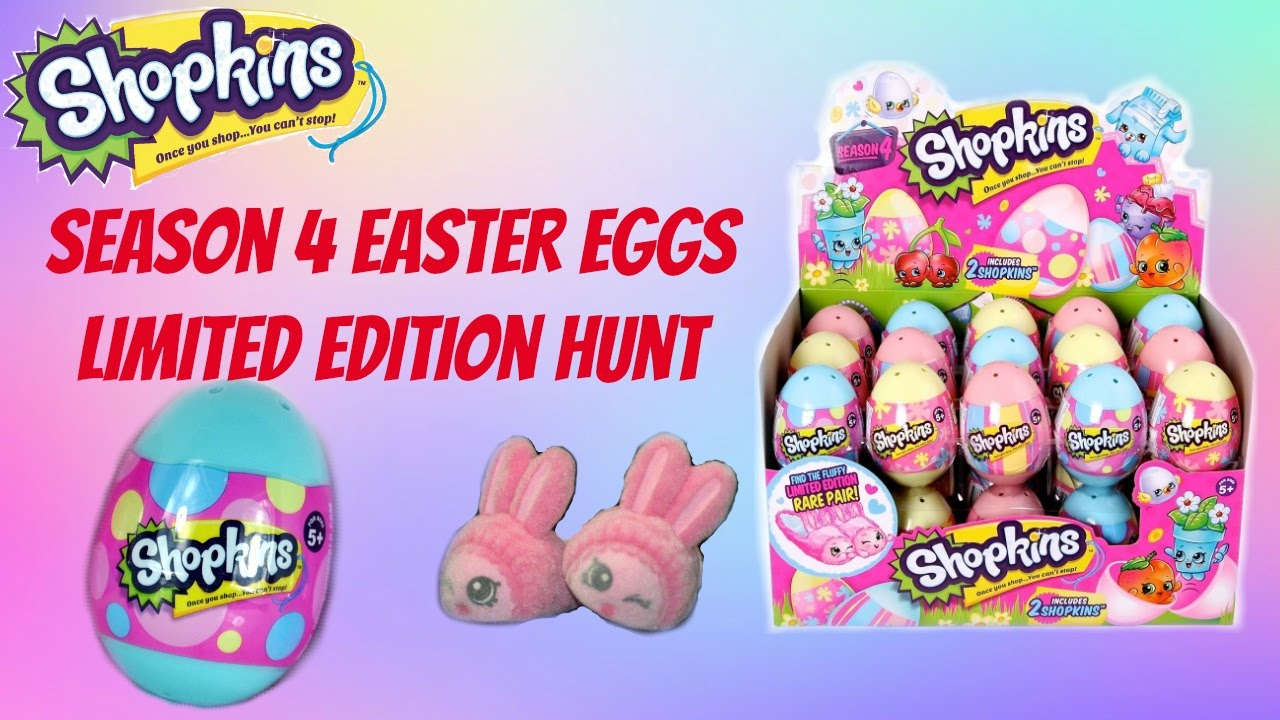 Shopkins Season 4 Blind Easter Eggs Limited Edition Bun Slippers HUNT Repaints Toy Opening