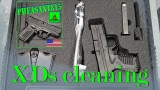 XDs field strip and cleaning first cleaning after first 50 rounds