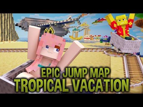 Minecart Mayhem | Epic Jump Map : Tropical Vacation | Ep. 3