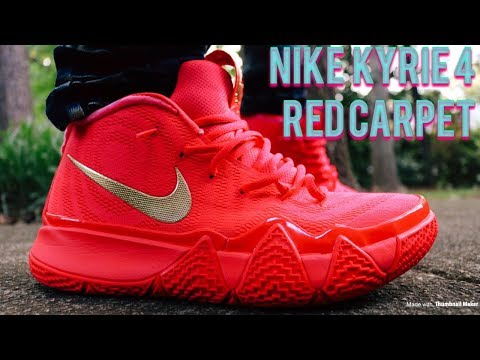 Nike Kyrie 4 Red Carpet Review & In Depth On & Off Feet Looks!!