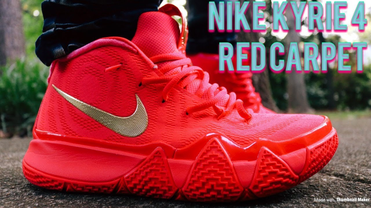 new concept e560b 77ad0 Nike Kyrie 4 Red Carpet Review & In Depth On & Off Feet Looks!!