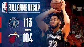 Full Game Recap: Timberwolves Vs Heat | Kat Stuffs The Stat Sheet