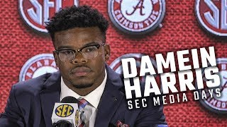 Hear what Damien Harris had to say at SEC Media Days 2018