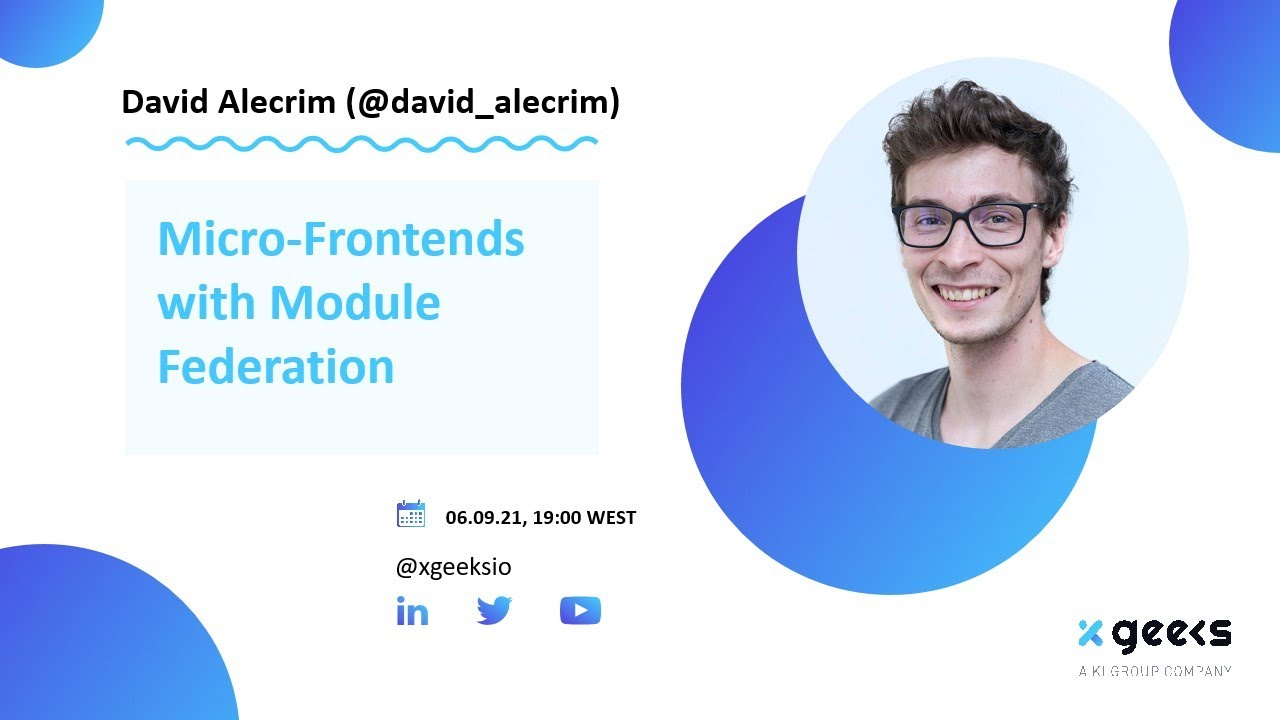 Micro-Frontends  with Module Federation by David Alecrim