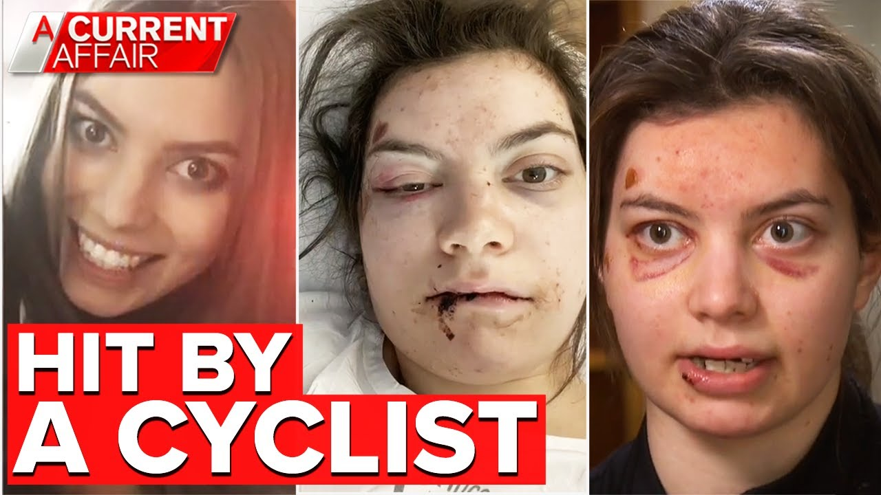 Woman hit by cyclist on footpath left with medical debt   A Current Affair