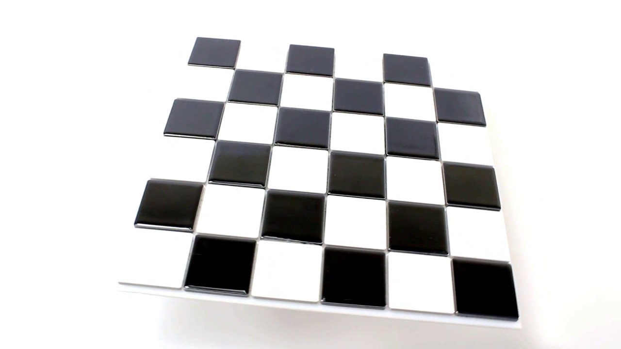 Keramik Fliesen New Design Schachbrett Schwarz Weiss Youtube