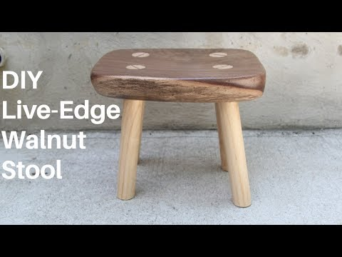 DIY Live-Edge Walnut Stool | NATHAN BUILDS