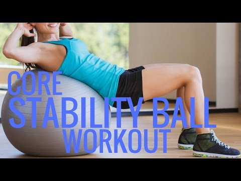Core Exercise Ball Workout  Stability Ball Exercises  Christina Carlyle