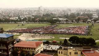 World's Largest Human National Flag - Nepal 2014 - Guinness World Record - FILM BY SHRESTHABROS.