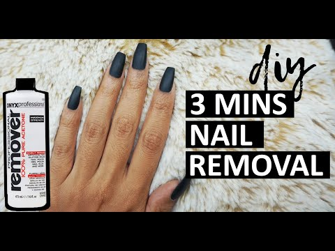 How to take acrylic gel nails off with acetone