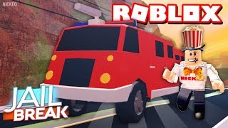 🔴 NEW JAILBREAK UPDATE LEVEL GRINDING! | Firetruck + Fires! | Double XP! | Roblox LIVE