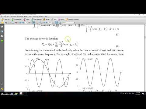 Average Power With Non Sinusoidal Voltage - Part01