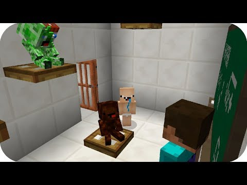 Bebe Nubi llega tarde a clases - Minecraft