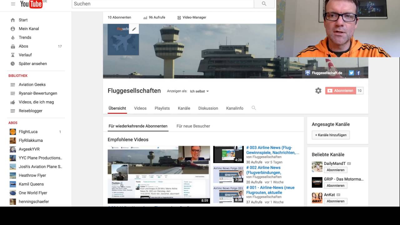 Wie ergänze ich Links in der Youtube Kanalinfo? - YouTube