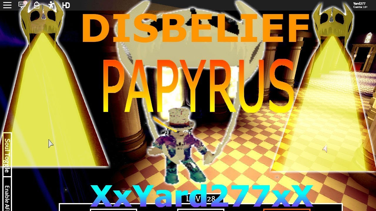 disbelief papyrus roblox id