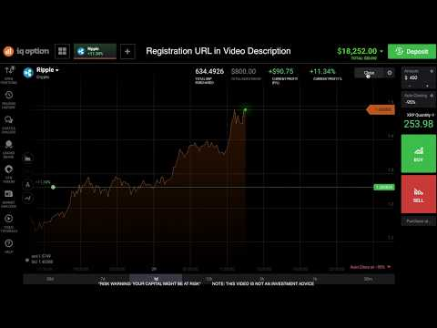 Ripple +10% CRYPTO TRADING. My 1-FIRST VIDEO. IQ OPTION