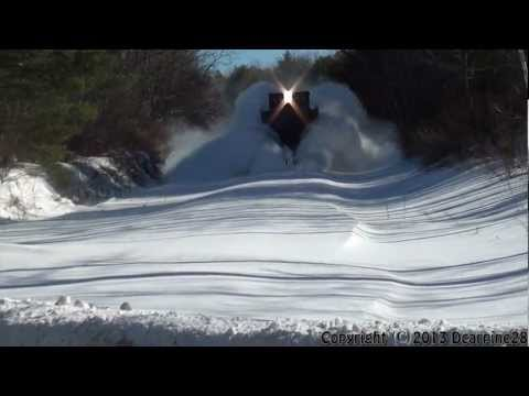 (HD) PanAm Railways Snow Plow Extra and an Empty Oil Train
