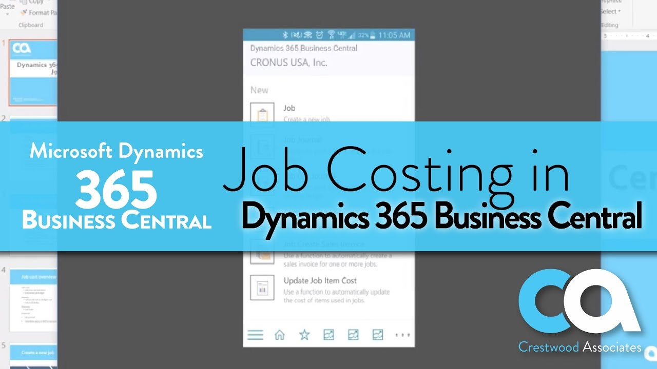 Jobs and Project Accounting in Dynamics 365 Business Central