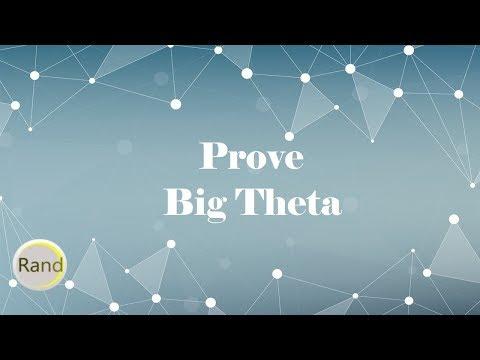 Prove Big Theta