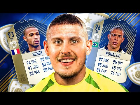 R9 RONALDO VS ICON HENRY IN FIFA 18! THE BATTLE OF THE ICONS SQUAD BUILDER! FIFA 18 ULTIMATE TEAM