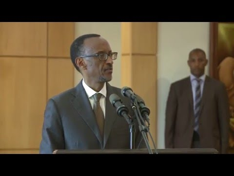 President Kagame at the luncheon with Diplomatic Corps | Kigali, 15 January 2016