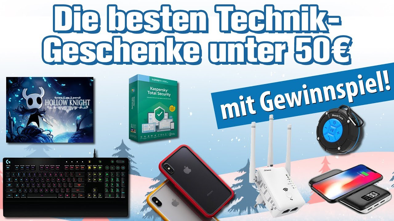 Die besten Technik-Geschenke unter 50 Euro 🎄🎄 (Weihnachten 2018 ...