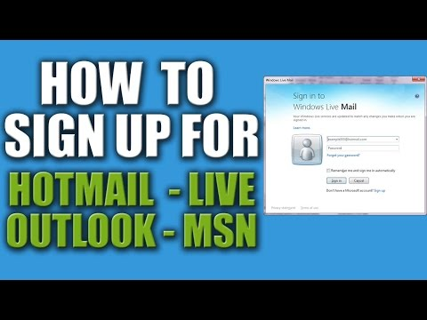 How to Sign Up for Hotmail or Outlook 2016 -  Sign into Hotmail