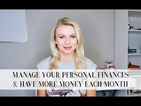 MANAGE YOUR PERSONAL BUDGET + HAVE MORE MONEY EACH MONTH | Template + Tutorial