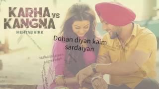 Download Hindi Video Songs - Karha Vs Kagna New Song Mehtab Virk Lyrics