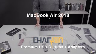 MacBook Air 2018 Unboxing with CharJenPro USB C Hubs and Adapters