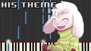 """""""His Theme"""" - Synthesia Piano Tutorial (Easy) + Sheet Music"""