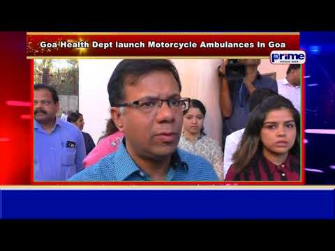 Goa Health Department Launches Motorcycle ambulances In Goa